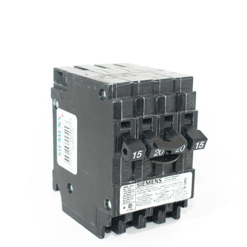 Siemens Q21520CTNC 15/2P20/15 Quad Push-On Breaker