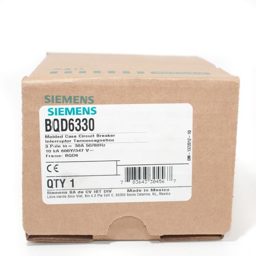 SIEMENS BQD6330 NEW IN BOX BQD6330