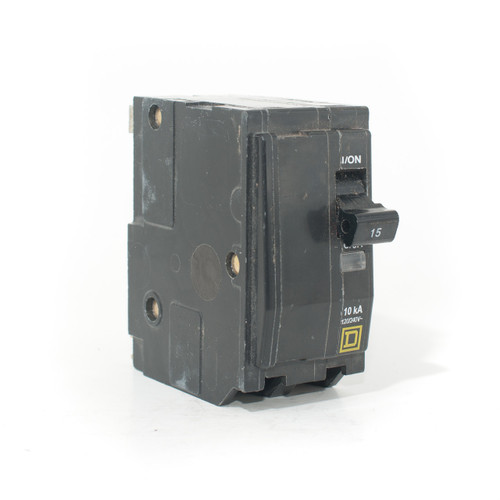 Square D QO215 front angle view