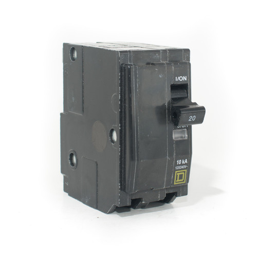 Square D QO220 front angle view
