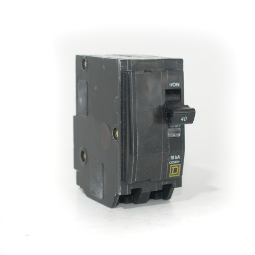 Square D QO240 front angle view