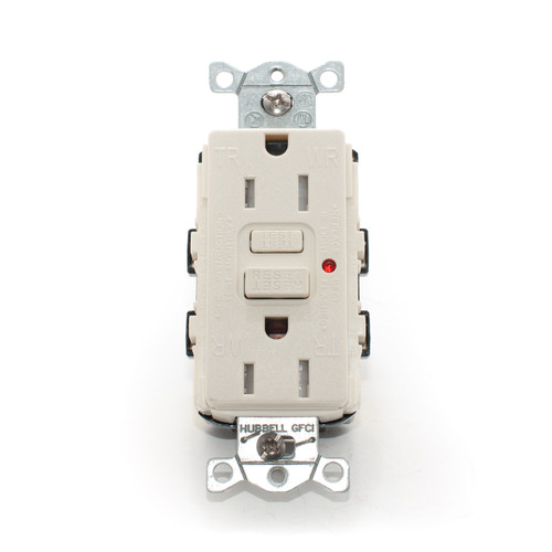 15A Tamper & Weather Resistant GFCI Receptacle, Light Almond