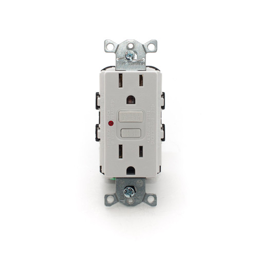 15A GFCI Receptacle, White