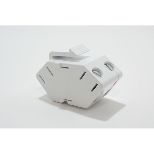 On-Q Single Speaker Outlet Keystone Insert White