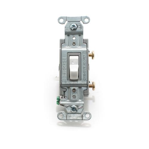 Toggle Switch, Single Pole 20A 120/277V, Spec Grade, White