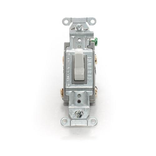Toggle Switch, Double Pole 15A 120/277V, Spec Grade, White