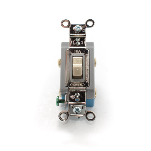 Toggle Switch, Double Pole 15A 120/277V, Industrial Grade, Ivory