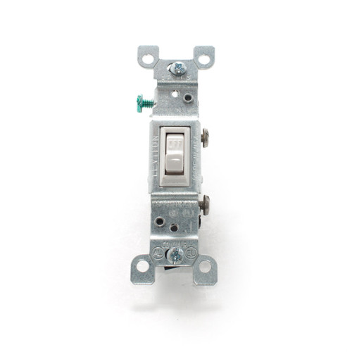 Co/Alr Toggle Switch, Single Pole 15A 125V, White