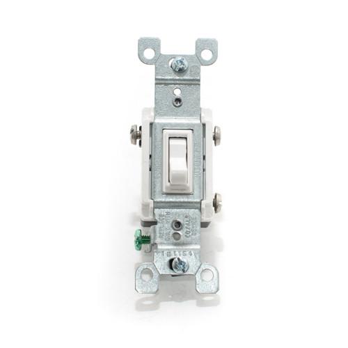 Co/Alr Toggle Switch, 3-Way 15A 125V, White
