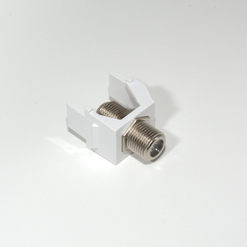 On-Q Recessed Coax F-connector White