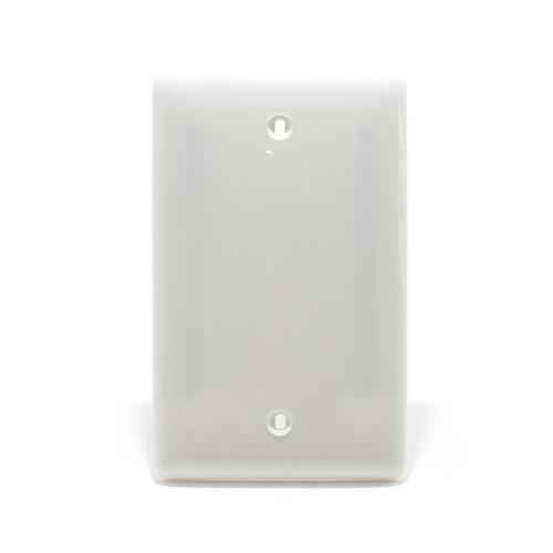 Blank Plate, 1 Gang, White, Nylon