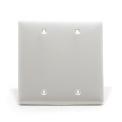 Blank Plate, 2 Gang, White, Nylon