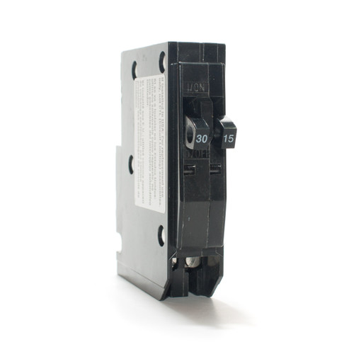 Square D Tandem 30/15A Push-On Breaker