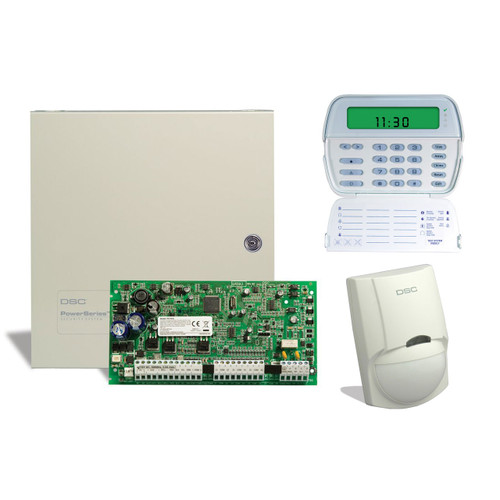 DSC 6 Zone Alarm Kit with Keypad and Motion Detector