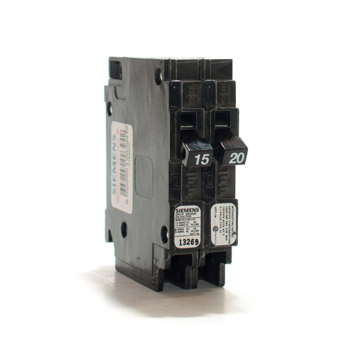 Siemens Q1520NC Tandem 15/20A Single Pole Push-On Breaker