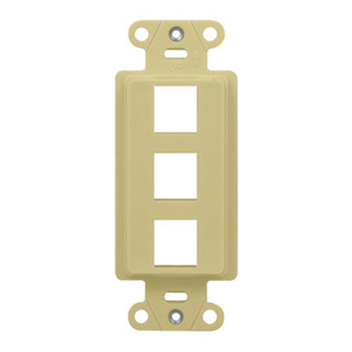 Copy of On-Q 3-Port Single Gang Outlet Strap Ivory