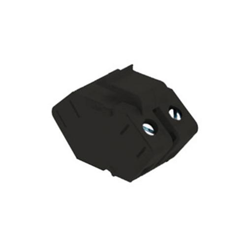 On-Q Single Speaker Outlet Keystone Insert Black