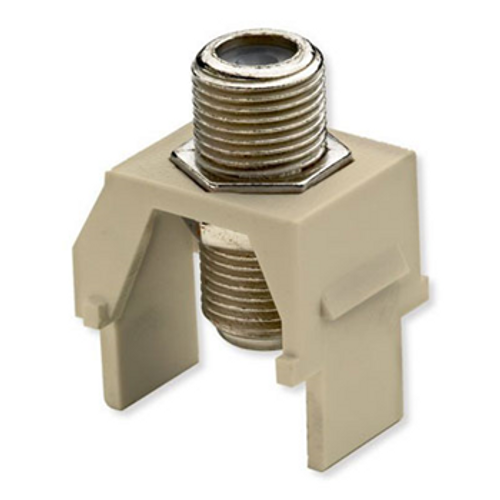 On-Q Recessed Coax F-connector Ivory