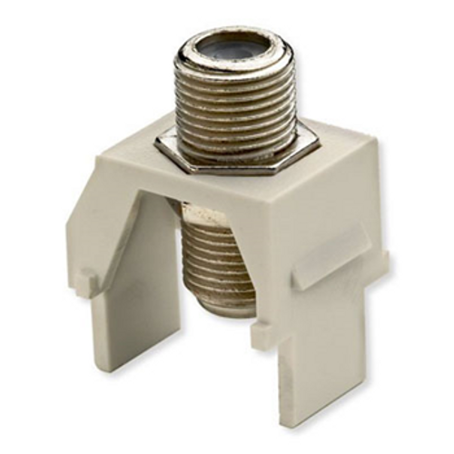 On-Q Recessed Coax F-connector Light Almond