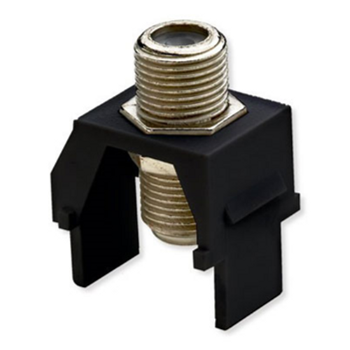 On-Q Recessed Coax F-connector Black