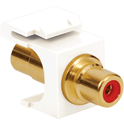 RCA/RCA FEMALE With Red Insert, White