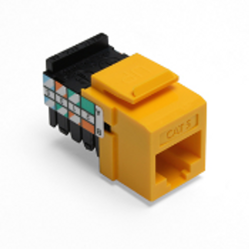 Leviton Cat 5 QuickPort Connector, Yellow