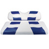 Madjax RIPTIDE White/Blue Front Seat Cover
