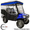 4 Passenger Chameleon Enclosure (Black Vinyl w/Black Valance)   - Fits Triple Track Tops on EZGO TXT (1994-2013)