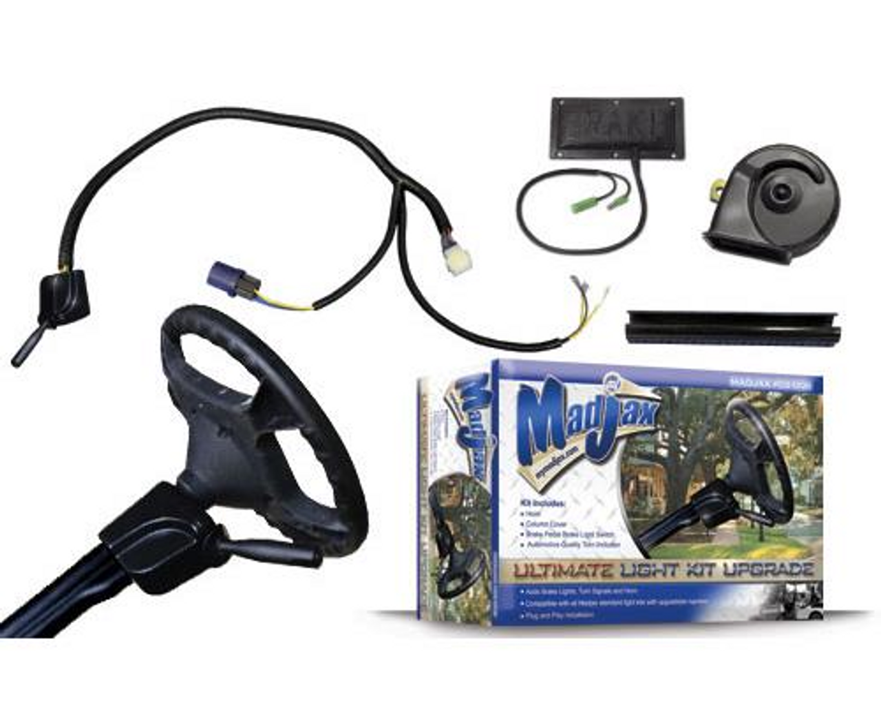 Madjax Ultimate Upgrade Kit (Includes Turn Signal Switch, Brake Pad, & Horn)