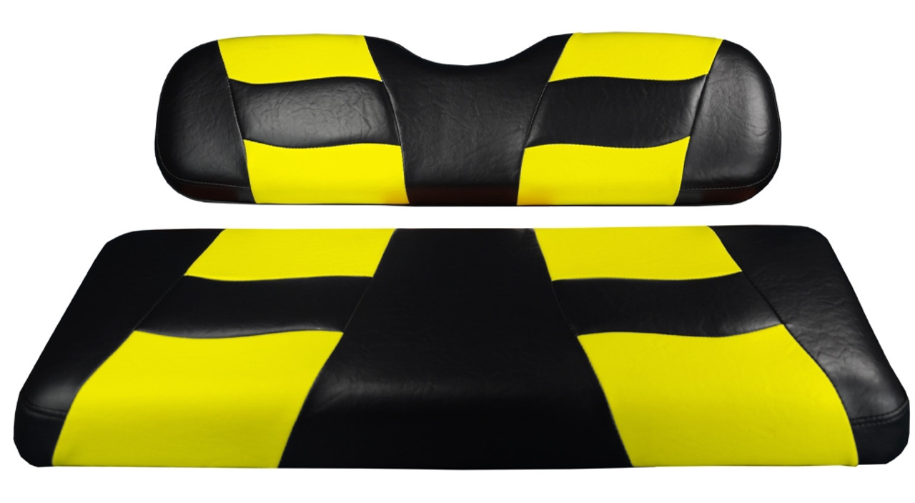 Madjax RIPTIDE Black/Yellow Carbon Front Seat Cover