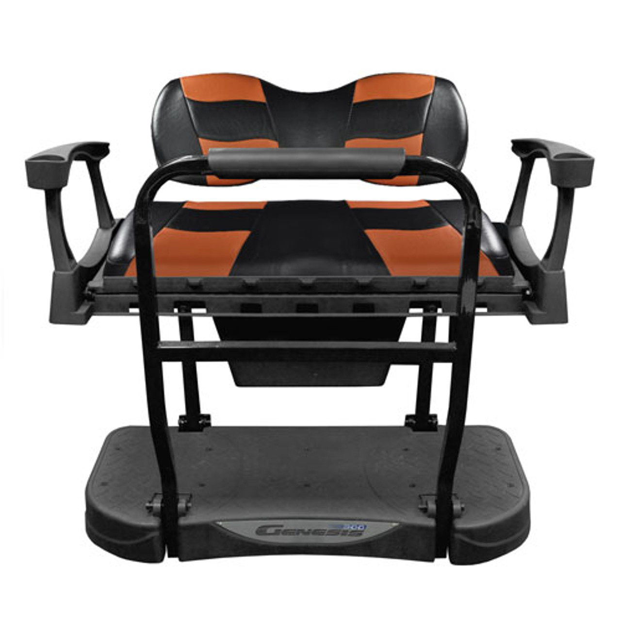 Madjax Genesis 250 Rear Flip Seat with Deluxe RIPTIDE Black/Moroccan Cushions