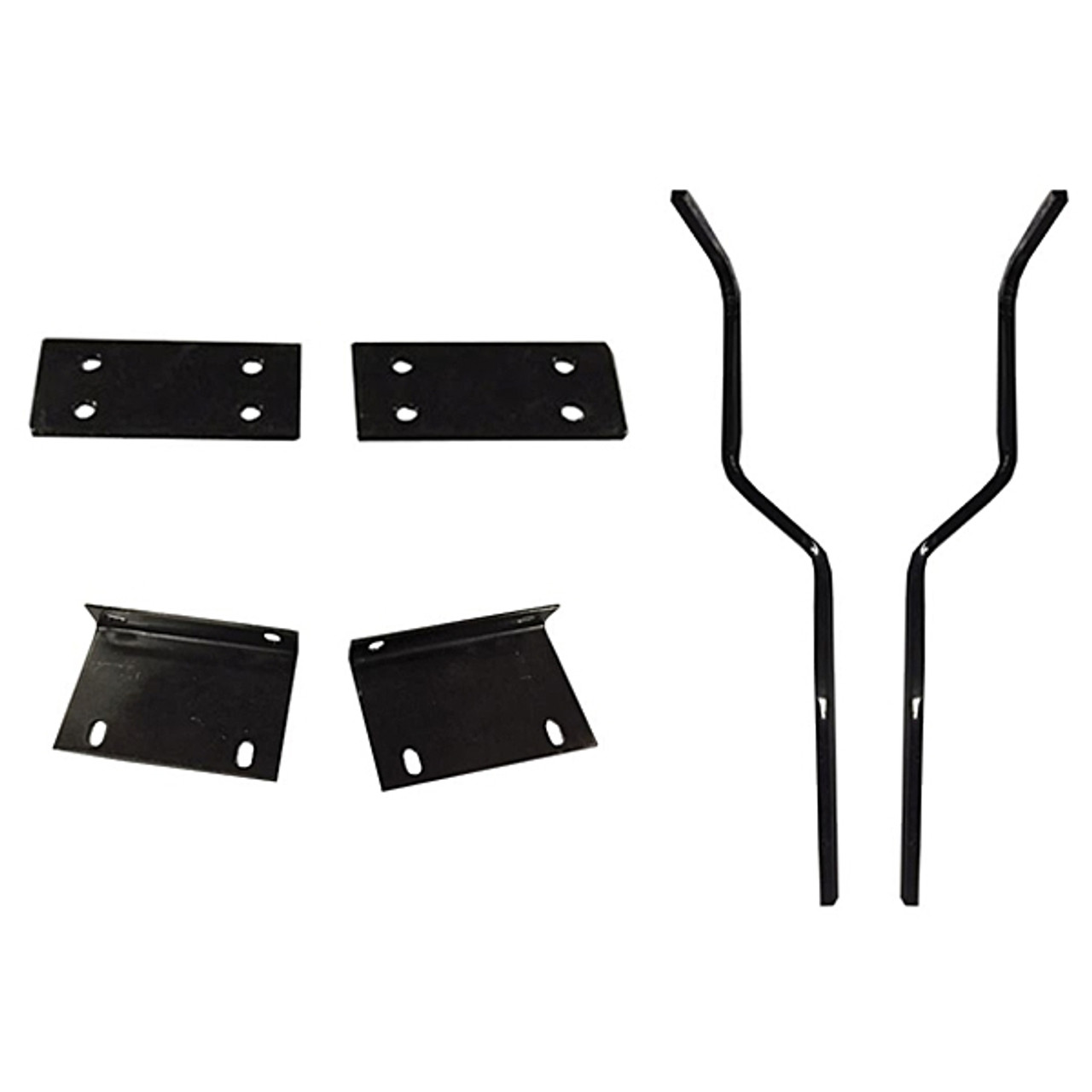 Madjax Mounting Brackets & Struts for Triple Track Extended Tops with Genesis 300 Seat Kit - Fits EZGO TXT/T48
