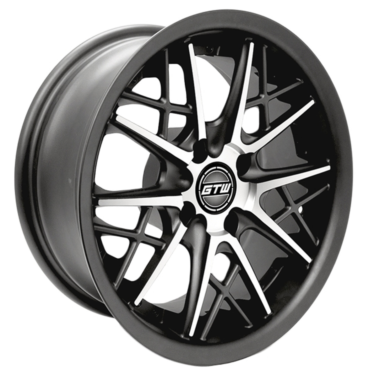 """GTW 14"""" AXIS Matte Gray/Machined Wheel"""
