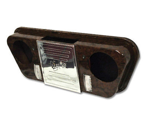 MadJax Wood Grain Radio Console w/LED Map Lights