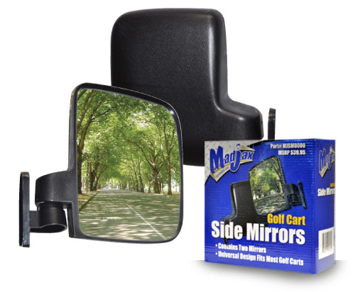 Madjax Side Mirror Set - Fits Club Car, EZGO, & Yamaha Golf Carts