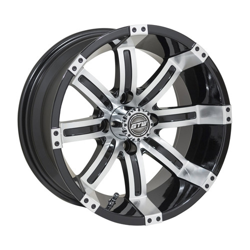 GTW 14x7 TEMPEST Machined/Black Wheel
