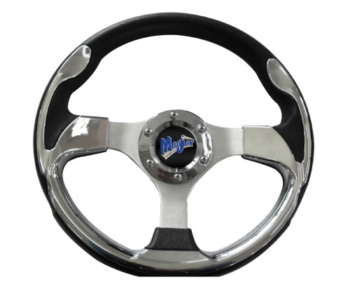 "Madjax 13"" ULTRA2 Chrome Steering Wheel (Includes Hub Adapter)"