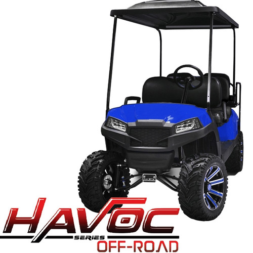 Madjax Blue HAVOC Front Cowl w/ Off-Road Fascia & Headlights for Yamaha Drive/G29 (Fits 2007-2016)