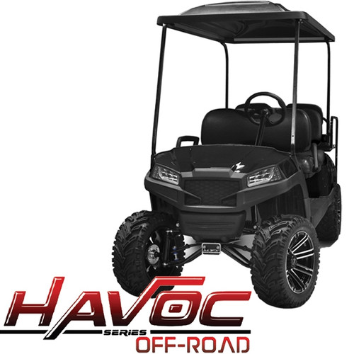 Madjax Black HAVOC Front Cowl w/ Off-Road Fascia & Headlights for Yamaha Drive/G29 (Fits 2007-2016)