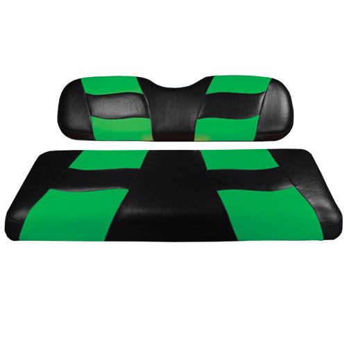 Madjax RIPTIDE Black/Green Rear Seat Cushion Set