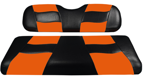 Madjax RIPTIDE Black/Orange Rear Seat Cushion Set