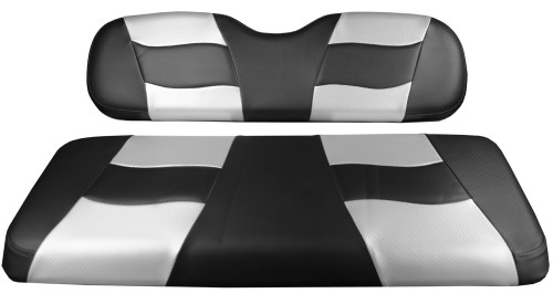 Madjax RIPTIDE Black Carbon/ Silver Carbon Rear Seat Cushion Set