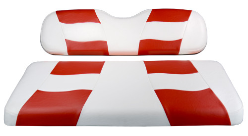 Madjax RIPTIDE White/Red Rear Seat Cushion Set