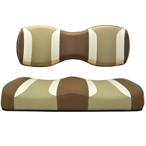 Madjax TSUNAMI Caramel Oyster with Autumn Harvest Rear Seat Cushion Set - Fits Genesis 250/300 Rear Seat Kits