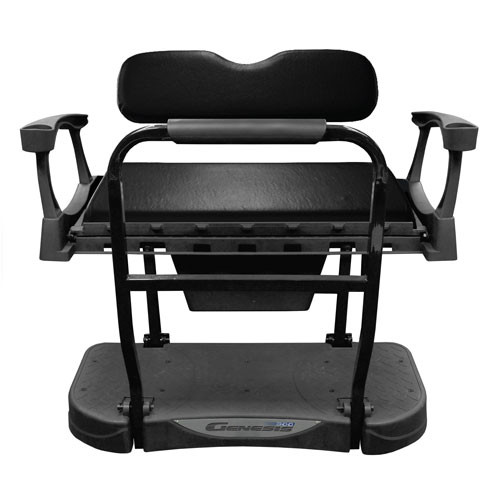 Madjax Genesis 300 Aluminum Rear Flip Seat with Standard (Black) Cushions