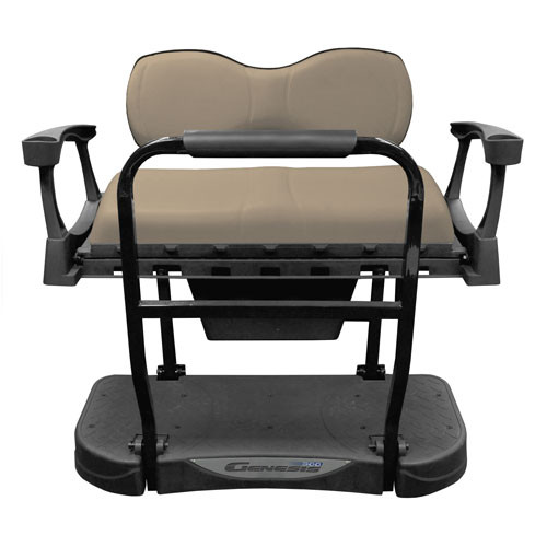 MadJax Genesis 300 Aluminum Rear Flip Seat with Deluxe (Buff) Cushions