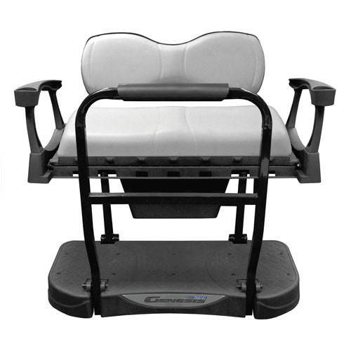 MadJax Genesis 300 Rear Flip Seat with Deluxe (White) Cushions