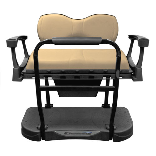 Madjax Genesis 300 Rear Flip Seat with Deluxe (Tan) Cushions