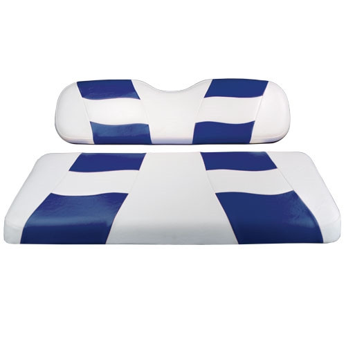 Madjax RIPTIDE White/Blue Rear Seat Cushion Set