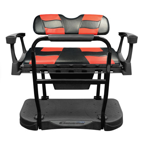 Madjax Genesis 250 Rear Flip Seat with Black/Red RIPTIDE Standard Cushions